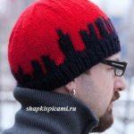 мужская вязаная шапка Нью-Йорк