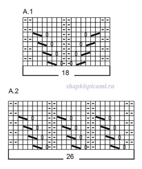 простой ажурный узор схема вязания