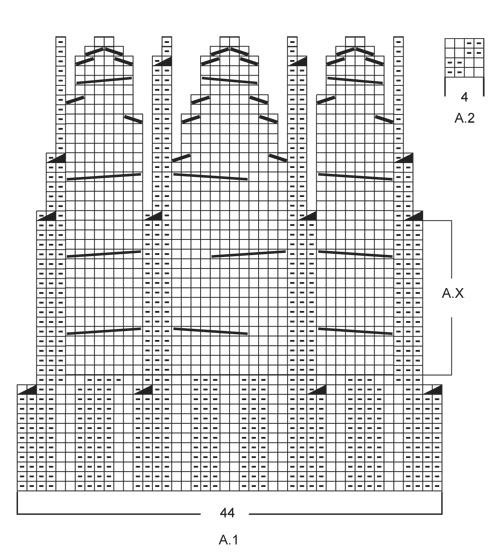 схема вязания аранов для шапки