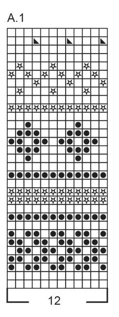 схема вязания рисунка для шапки